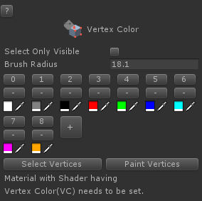 Vertex Color Tool — Unity UModeler Manual documentation